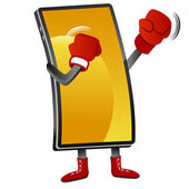 Boxing Smartphone — Stock Vector