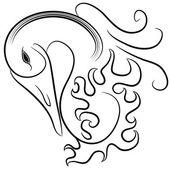 Abstract Swan — Vector de stock