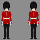 Royal British Guard — Stock Vector