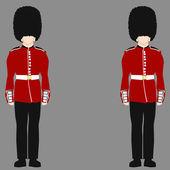 Royal British Guard — Stock Vector