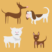 Tiny Dogs — Stock Vector
