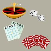 Gambling Casino Games — Stock Vector