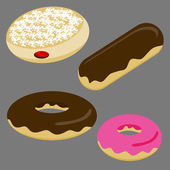 Donut Set — Stock Vector