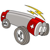 Electric Car — Stockvector