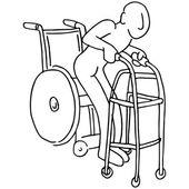 Wheelchair to Walker — Stock Vector