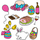 Easter Spring Items — Stock Vector