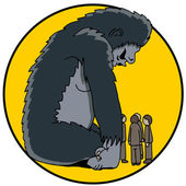 800 Pound Gorilla — Stock Vector