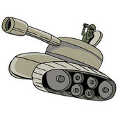 Military Tank — Stock Vector