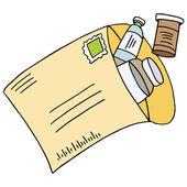 Mail Order Medication — 图库矢量图片