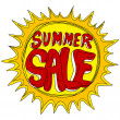 Summer Sale with Sun — Stock Vector