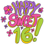 Happy Sweet Sixteen — Stock Vector
