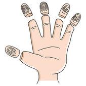 Fingerprint Identity Theft — Stock Vector
