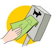 Dog Poop Bag Dispenser — Stock Vector