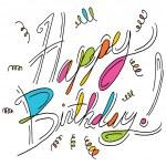 Happy Birthday Message — Stock Vector