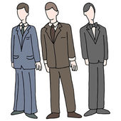Men Wearing Formal Attire — Stock Vector