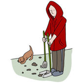 Picking Up Dog Poop — Stock Vector