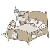 Critically Ill Patient — Stockvektor