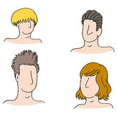Men Hairstyles — Stock Vector