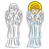 Praying Angel — Stock Vector