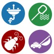 Home Maintenance Icons — Stock vektor