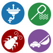 Home Maintenance Icons — Vector de stock