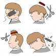 Haircut Process — Stock Vector #46232855