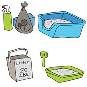 Cat Litter Objects — Stock Vector