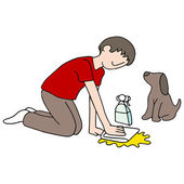 Cleaning Dog Mess — Stock Vector