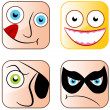 App Icon Faces — Stock Vector #46664425