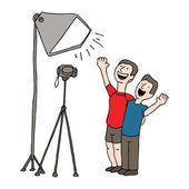 Video Taping Session — Stock Vector