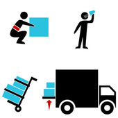 Warehouse Icons — Stock Vector