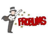 Problem Solving Magician — Stock Vector
