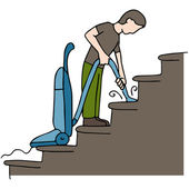 Cleaning Stairs — Stock Vector