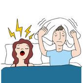 Snoring Wife — Stock Vector