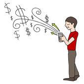Compra de móvel — Vetor de Stock