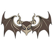Devil Bat Character — Stock Vector