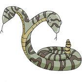 Two Headed Snake — Stock Vector