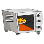 Toaster Oven — Stock Vector