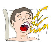 Loud Snoring Man — Stock Vector