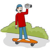 Skateboarding Video — Stock Vector