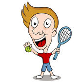 Tennis Player — Stock Vector