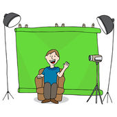 Video Studio Session — Stock Vector
