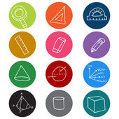Geometry Icon Symbols — Stock Vector