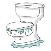 Overflowing Toilet — Stock Vector