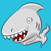 Cartoon Shark — Stock Vector