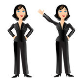 Business Woman Poses — Stock Vector