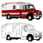 Véhicule ambulancier — Vecteur