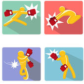 Fighting Man — Vector de stock
