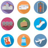 Airport Icon Set — Stock Vector