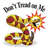Rattlesnake Dont Tread On Me — Stock Vector